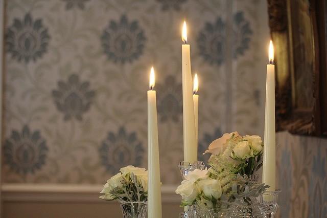 свечи, свадьба, декор, романтика