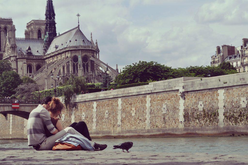 влюбленные, медовый месяц. Париж, двое, любовь, пара