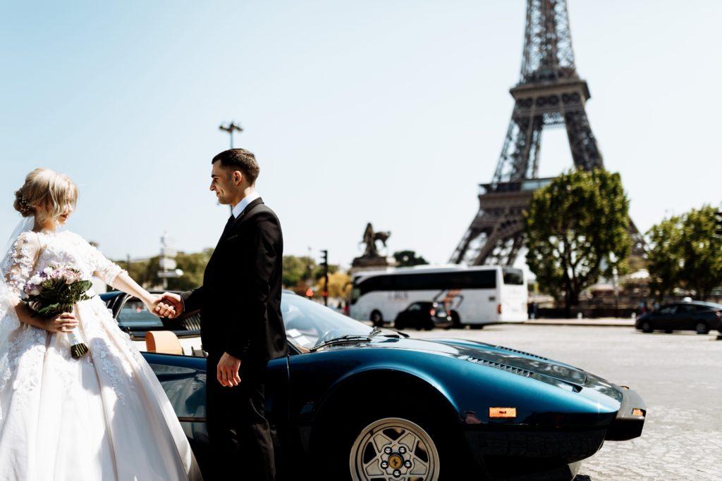 свадьба, молодожены, Париж, шикарно,