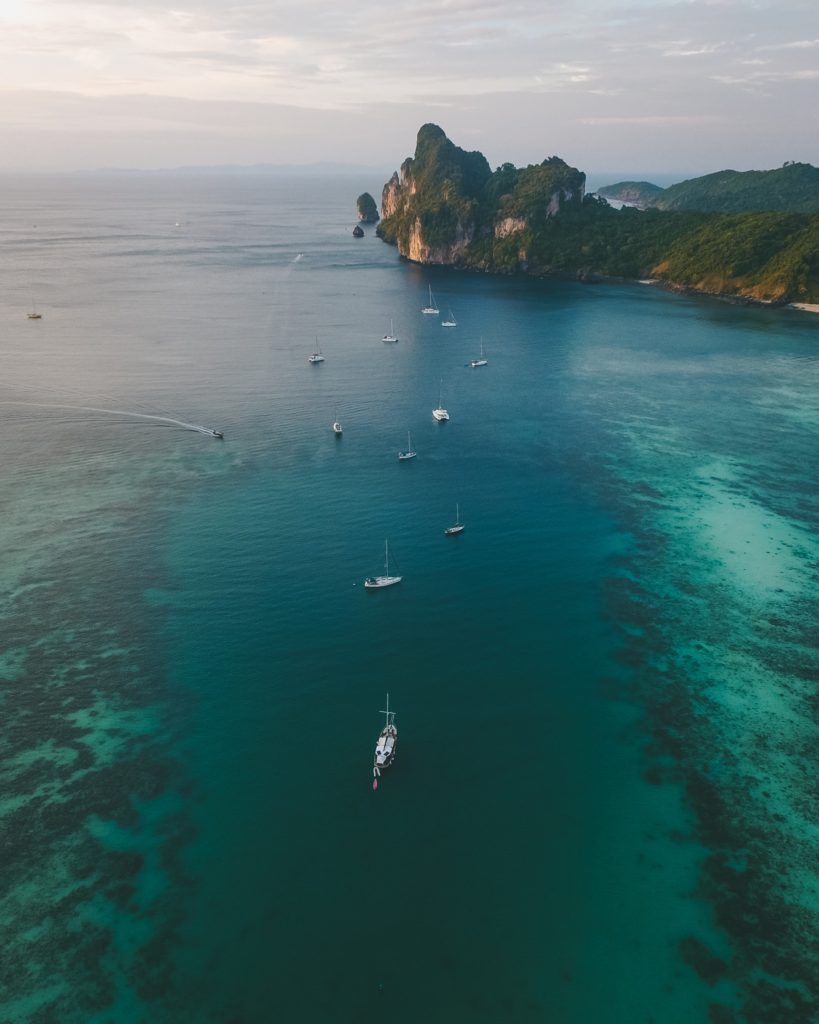 морские прогулки, яхта, красиво, свадебное путешествие, острова Бали