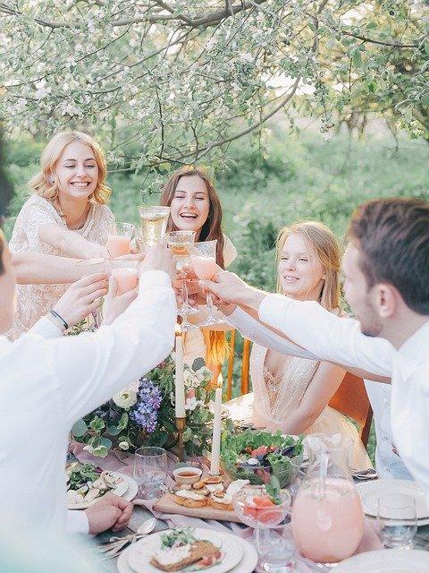 свадьба, годовщины свадьбы, отмечать, друзья