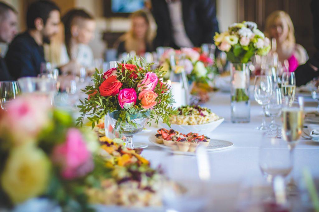 цветы, розы, застолье, розовая свадьба