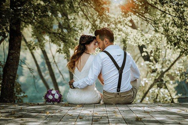 Свадебные ошибки, молодожены, на природе, любовь