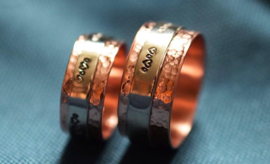 медная свадьба, медные кольца, годовщина 7 лет